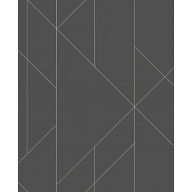 2889-25204 Torpa Charcoal Geometric Wallpaper