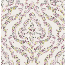 2901-25402 Featherton Pink Floral Damask Wallpaper