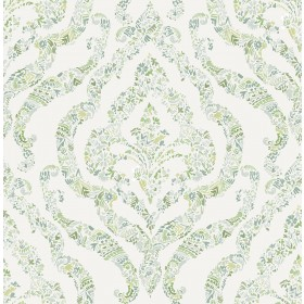 2901-25404 Featherton Light Green Floral Damask Wallpaper