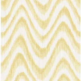 2901-25409 Bargello Yellow Faux Grasscloth Wave Wallpaper