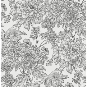 2901-25414 Birds of Paraside Breeze Black Floral Wallpaper