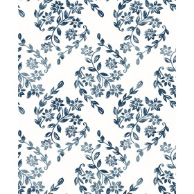 2901-25428 Arabesque Blue Floral Trail Wallpaper