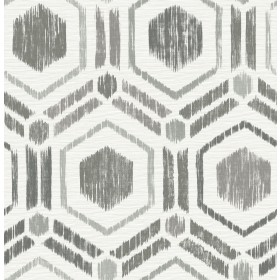 2901-25432 Borneo Taupe Geometric Grasscloth Wallpaper