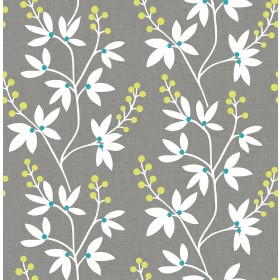 2901-25441 Linnea Elsa Taupe Botanical Trail Wallpaper