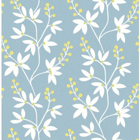 2901-25442 Linnea Elsa Light Blue Botanical Trail Wallpaper