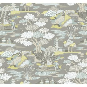 2901-87511 Joy De Vie Grey Toile Wallpaper