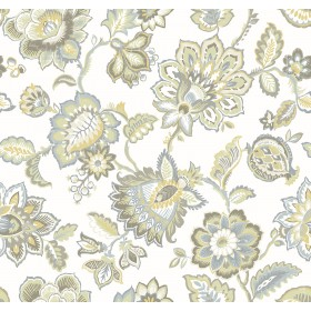 2901-87514 Corona Mustard Jacobean Wallpaper
