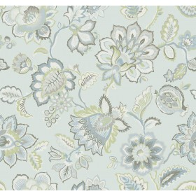 2901-87515 Corona Light Blue Jacobean Wallpaper
