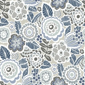 2903-25864 Lucy Grey Floral Wallpaper