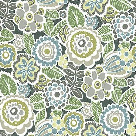 2903-25867 Lucy Green Floral Wallpaper