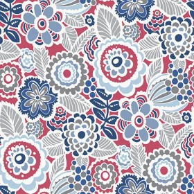 2903-25868 Lucy Red Floral Wallpaper