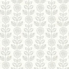 2904-13514 Dolly Taupe Folk Floral Wallpaper