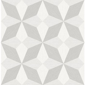 2908-25301 Valiant Off-White Faux Grasscloth Geometric Wallpaper