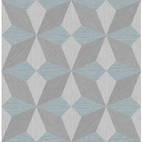 2908-25304 Valiant Aqua Faux Grasscloth Geometric Wallpaper
