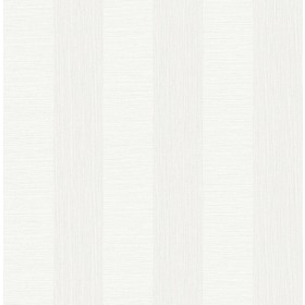 2908-25306 Intrepid White Faux Grasscloth Stripe Wallpaper