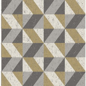 2908-25311 Cerium Metallic Concrete Geometric Wallpaper