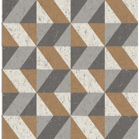 2908-25312 Cerium Copper Concrete Geometric Wallpaper
