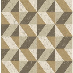 2908-25315 Cerium Light Brown Concrete Geometric Wallpaper