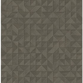 2908-25327 Gallerie Taupe Geometric Wood Wallpaper