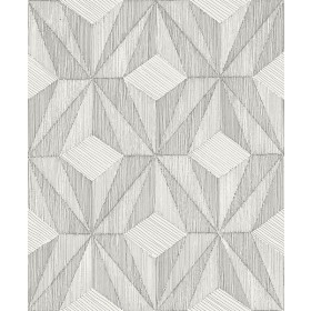 2908-87102 Paragon Silver Geometric Wallpaper