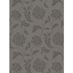 2910-2754 Holiday Charcoal Jacobean Wallpaper