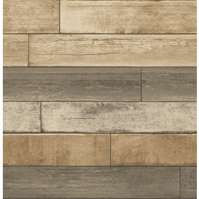 2922-22346 Porter Wheat Weathered Plank Wallpaper