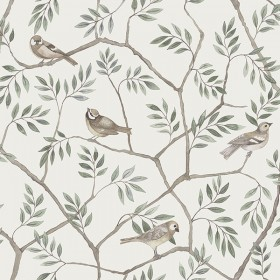 2948-27015 Crossbill Off-White Branches Wallpaper