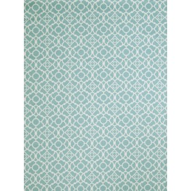 Special Hall Lattice Aqua Fabric