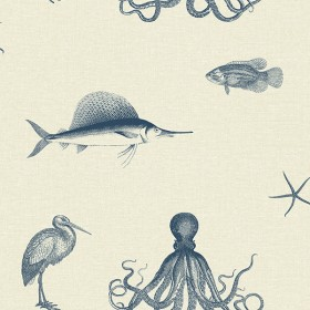 Oceania Taupe Sea Creature Wallpaper