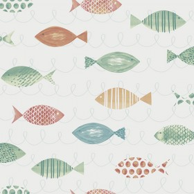 Key West Aqua Fish Wallpaper