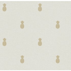 Southern Charm Beige Pineapple Wallpaper