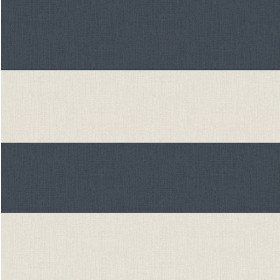 Awning Navy Stripe Wallpaper