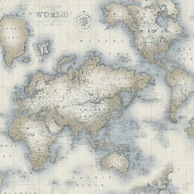 Mercator Cream World Map Wallpaper