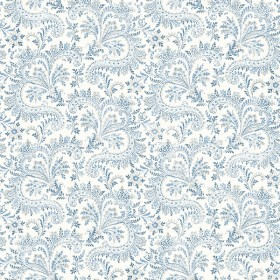 3119-01387 Sycamore Blue Paisley Floral Wallpaper
