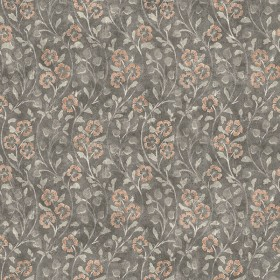 3119-13054 Patsy Charcoal Floral Wallpaper