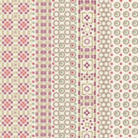 Conta Pink Sequin Embroidered Stripe Wallpaper