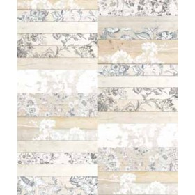 Madera Mosaico White Painted Wood Panels Wallpaper
