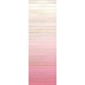 Degrado Pink Ombre Painted Wood Wallpaper