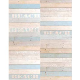 Madero Blue Beach Wood Panels Wallpaper