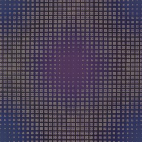 Flash Forward Purple Geometric Holograph Wallpaper