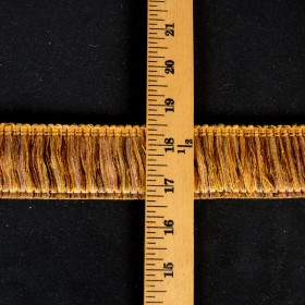 EO500 Gold Copper Brush Fringe Trim
