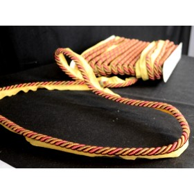 Mulberry Rose Green Red Gold Lip Cord Trim