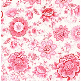 Kali Pink Folklore Chintz Wallpaper
