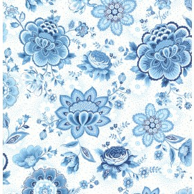 Kali Light Blue Folklore Chintz Wallpaper