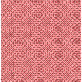 Eebe Red Floral Geometric Wallpaper