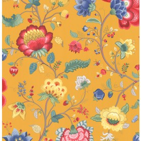 Epona Yellow Floral Fantasy Wallpaper