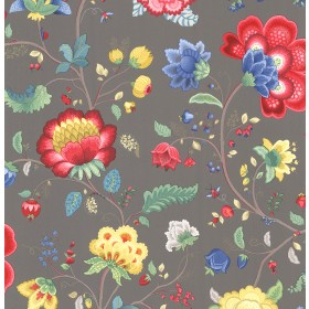 Epona Charcoal Floral Fantasy Wallpaper