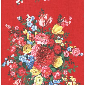 Ayaanle Red Dutch Painters Floral Wallpaper