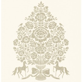 Till Cream President Damask Wallpaper