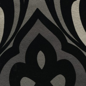 Sahrzad Black Nouveau Damask Wallpaper